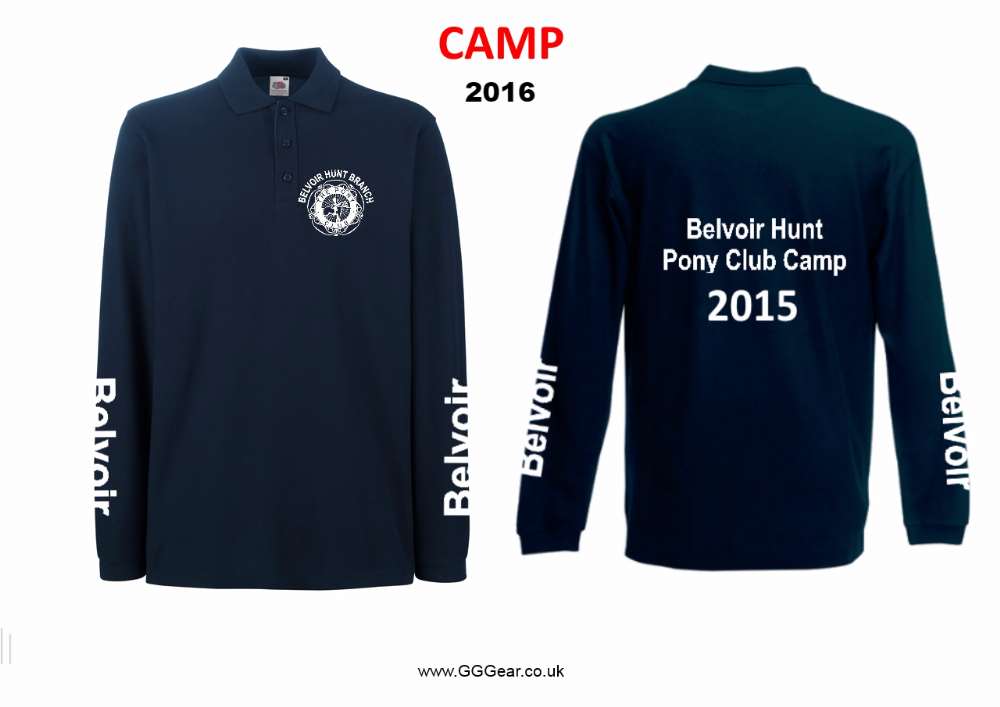 Adults Belvoir 2018 CAMP Long Sleeve Navy Polo